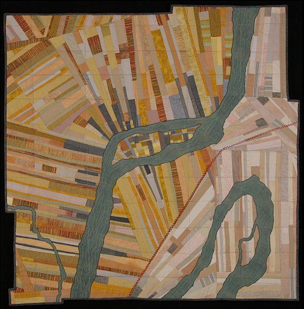 Incredible quilt art by Leah Evans. http://leahevanstextiles.com/