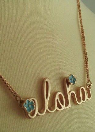 Compra mi artículo en #vinted http://www.vinted.es/accesorios/otros-accesorios/701732-collar-aloha-dorado-de-pull-and-bear