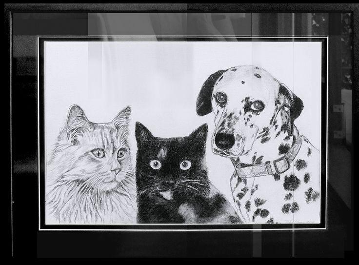 2014 Charcoal Sketch 'George Jazz & Lizzie'