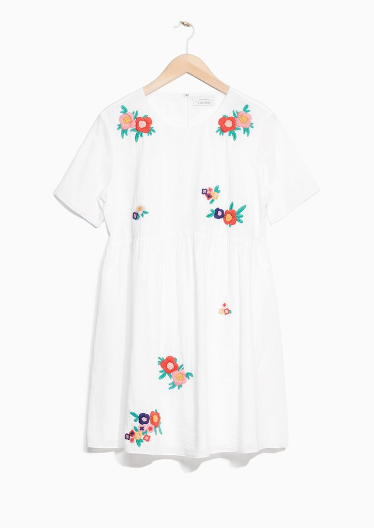 & Other Stories image 1 of Embroidery Cotton Dress in Off White