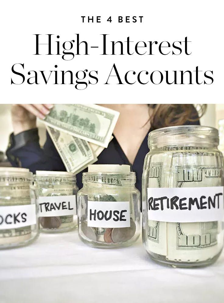 The 4 Best High-Interest Savings Accounts for Stashing Your Hard-Earned Cash via @PureWow