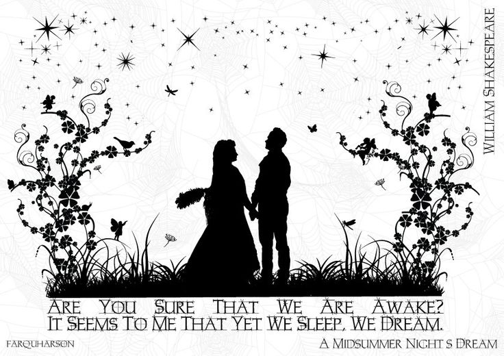 a midsummer nights dream illustrated quote a5 print