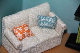 Cup of Delight: DIY Dollhouse Miniatures Fabric Couch