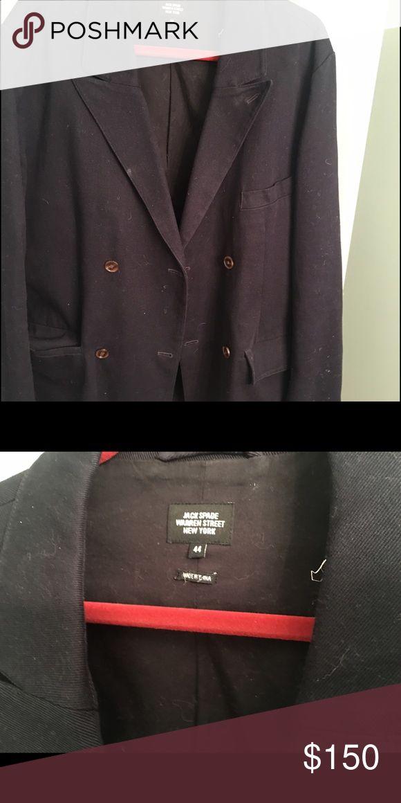 Jack Spade Mens casual blazer Great thicker casual  navy blue canvas V lapel mens blazer jacket size 44 from Jack Spade NYC. Jack Spade Suits & Blazers
