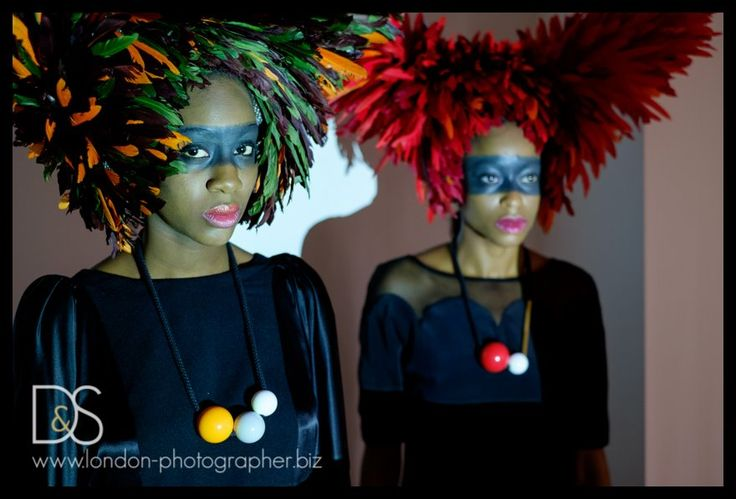 amazing headpieces by @shaunmmcgrath #wiggery, dresses by @khkatharine, accessorised with necklace by One We Made Earlier for #FHFW photo by Sara Lipowitz Atteby http://www.london-photographer.biz/