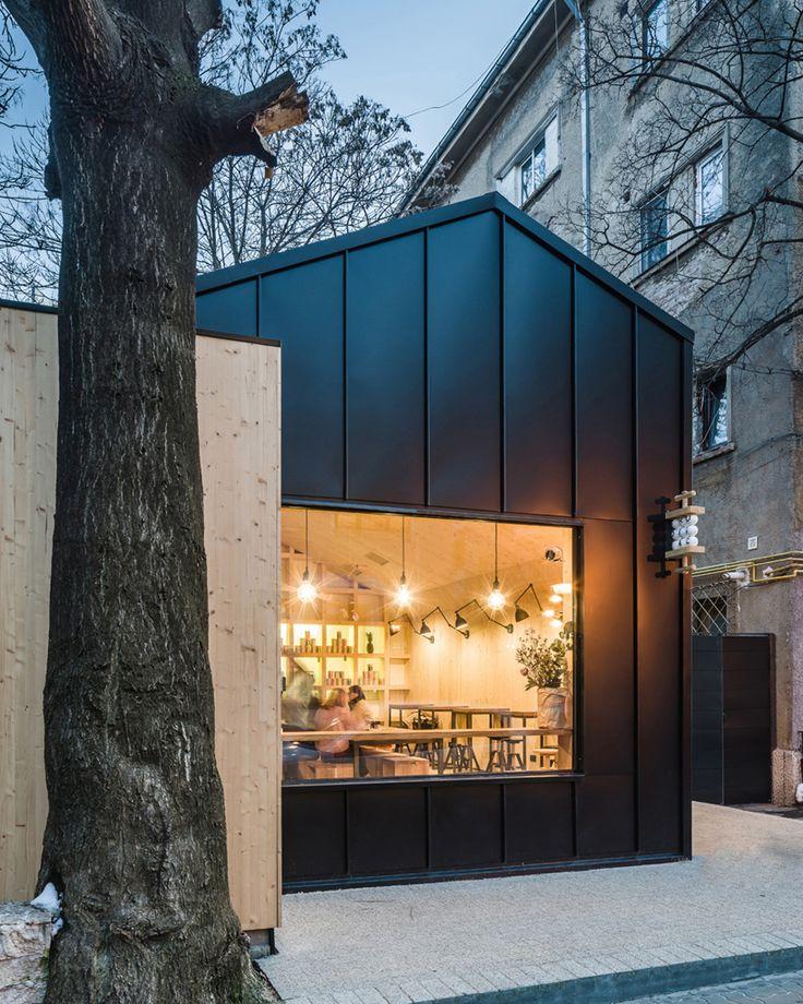 nana not a number architects juice bar cabin bucharest designboom