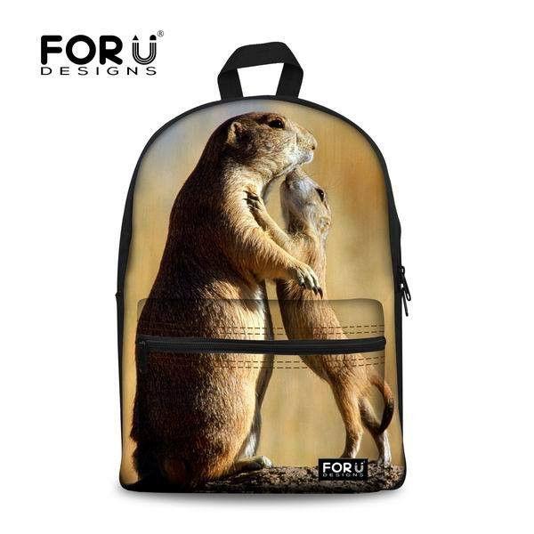 FORUDESIGNS New Style 3D Animal Printing School Bags Cute Cat School Bag Zaini Scuola Mochila Infantis Escolar For Children Girl