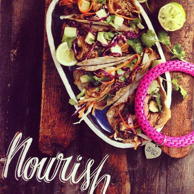 Pulled pork tacos - nourishing with Lorna Jane