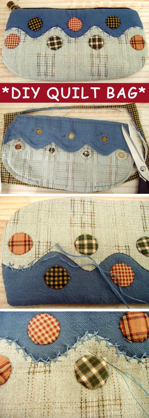 DIY Sewing Photo Tutorial for Quilted Cosmetic Bag or Toiletry Case. http://www.handmadiya.com/2015/10/photo-tutorial-diy-quilt-bag.html