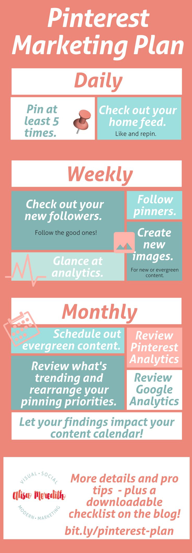 What to do daily, weekly, and monthly for ultimate Pinterest success!