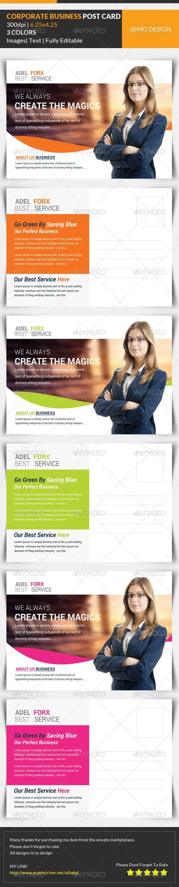 Best 25+ Business postcards ideas on Pinterest | Leaflet design ...