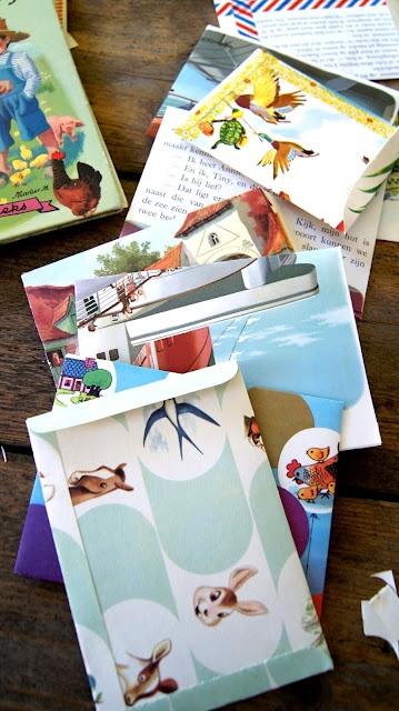 DIY enveloppes avec pages de livres enfants