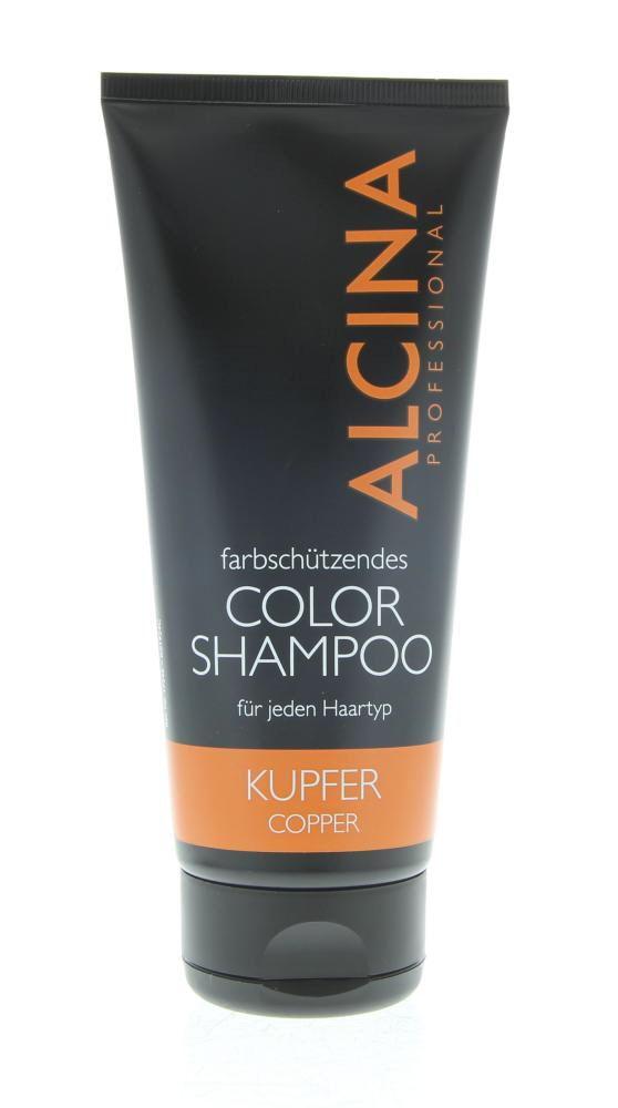 Alcina Color Farbschützende Color Shampoo Kupfer 200ml  Description: Alcina Farbschützende Color Shampoo Kupfer. Deze mild reinigende color-shampoo beschermt je haarkleur tegen oplichten door de zon bij elke wasbeurt.Gebruik:Laten schuimen op de hoofdhuid 5-10 min laten inwerken grondig uitspoelen.  Price: 14.20  Meer informatie
