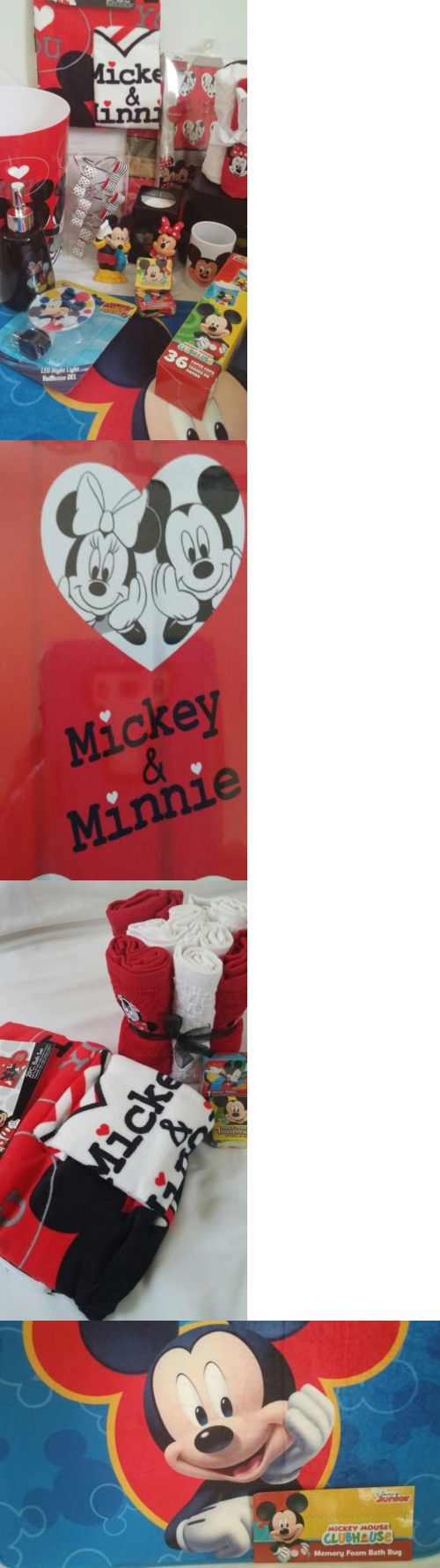 Other Kids and Teens Items 176989: Mickey N Minnie Mouse Bathroom 32Pcs Set Includes Shower Curtain Towel Etc -> BUY IT NOW ONLY: $109 on eBay!