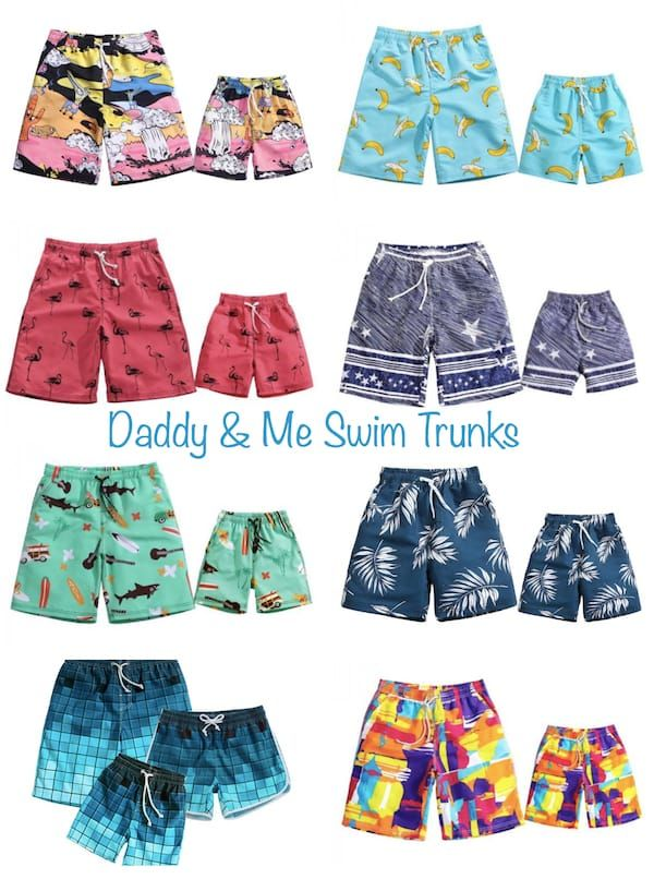 346c7a3095 Daddy and Me Swim Trunks | Mommy, Daddy & Me in 2019 | Swimwear ...