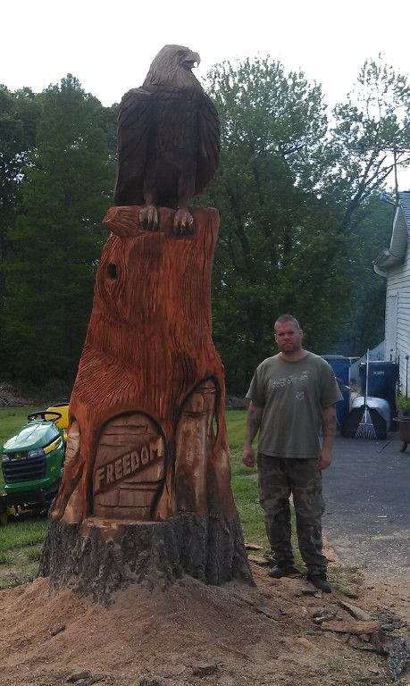 17 Best images about Cutesy Carvings on Pinterest   Chain saw, Wolves and Sculpture