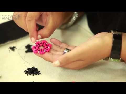 Korálkování, šité šperky - Radka Fleková - 3.díl - YouTube