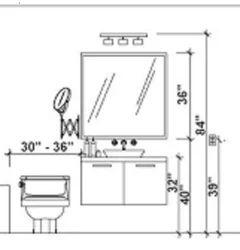 bathroom vanity mirror height? in 2020 | Bathroom vanity ...