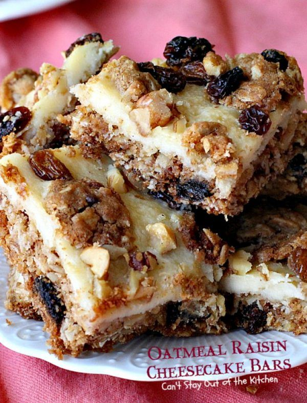 Oatmeal Raisin Cheesecake Bars – IMG_3917
