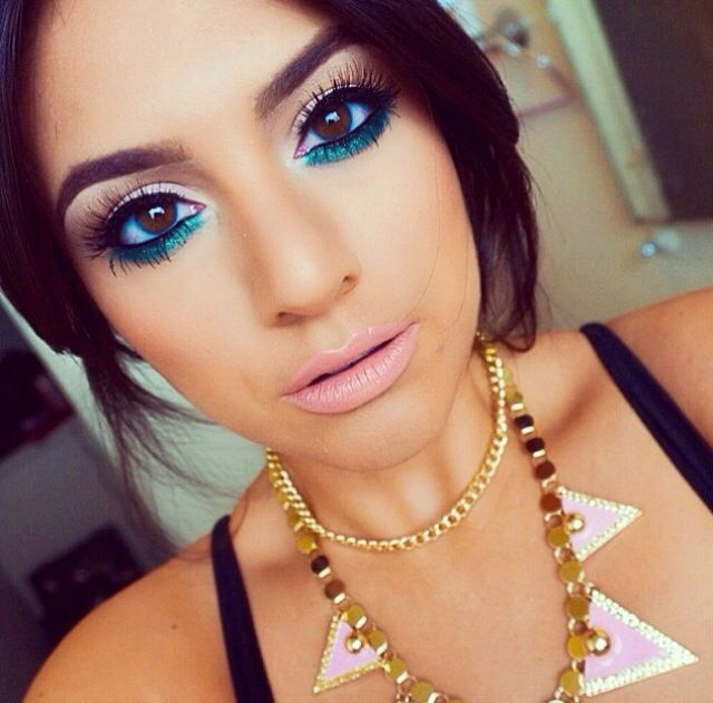 Pop of color makeup | Lipstick and Lashes ♥ | Pinterest ...