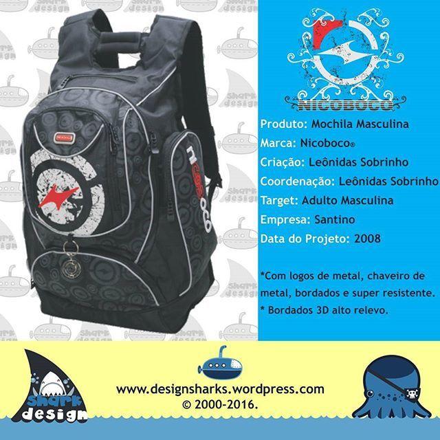 Agora uma mochila masculina Nicoboco.  #backpack #mochilas #schoolbags #surf #nicoboco #escolar #productdesign #projectdesign #graphicdesign #leonidasking #kingleonidas #leonidasdesigner #sharks