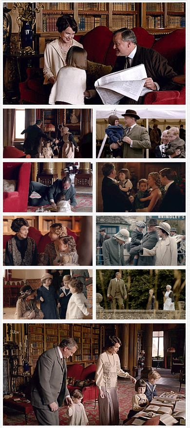 "Downton Abbey Season 6 ..Robert and Cora Crawley - Moments as Grandparents ""You must make do with Granny and Donk"" .."