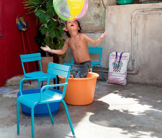 Luxembourg Kid Fermob bleu turquoise, mobilier pour les enfants.