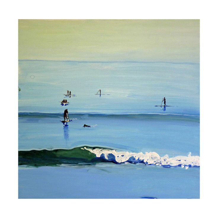 PaddleBoarders, Malibu 2011 by Annie Seaton for Minted; perfect for a beach house