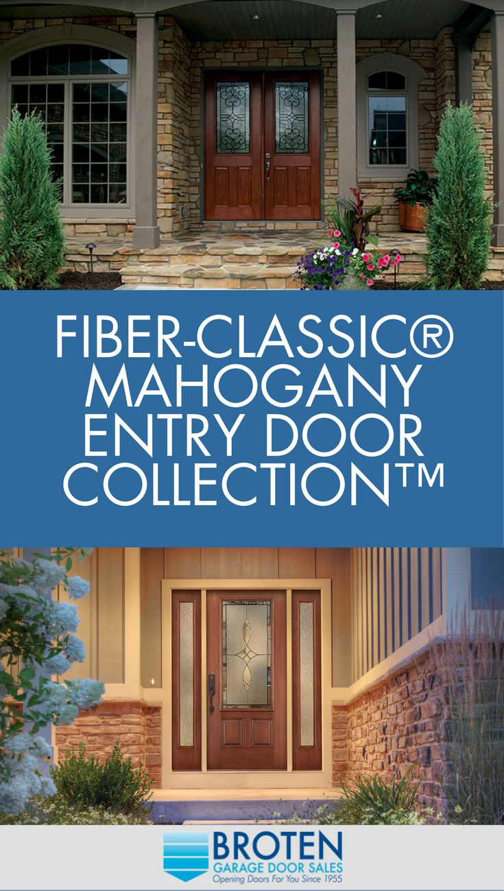 Fiber Classic Mahogany Entry Doors Garage Door Sales
