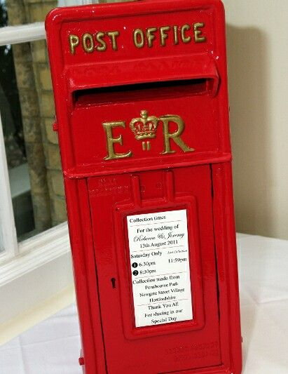 A Red Post Box Guest Book For Guests To Their Well Wishes Just An Idea Way Incorporate England Into The Wedding