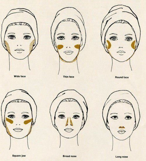 Apply a bronzer on your face to change its shape, color and hide the defects.