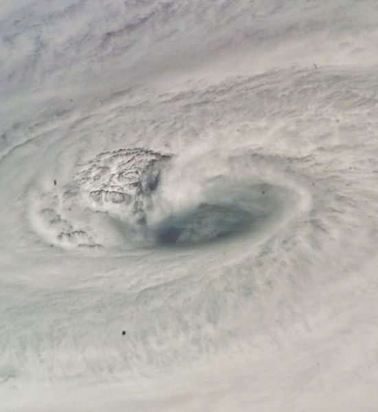 Hurricane Dean  An astronaut aboard the Space Shuttle Endeavour took this extraordinary photo of Hurricane Dean's swirling eye. It was Aug. 18, 2007, and the Category 4 storm was churning just south of Jamaica with winds as high as 150 mph. Before fizzling out, Dean caused at least 45 deaths across roughly 10 countries.