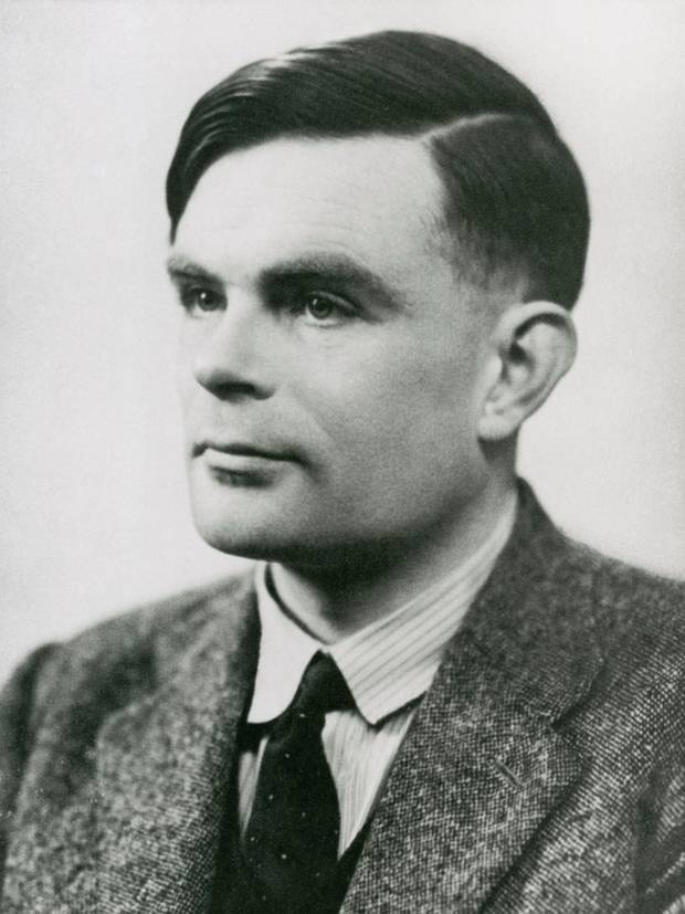Alan Turing, pictured 29 March 1951, three years before his death.