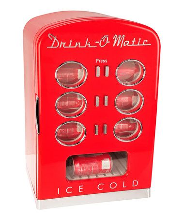 Cute!  I want one for my office! Take a look at this Retro Mini Cooler by Kalorik on #zulily today!