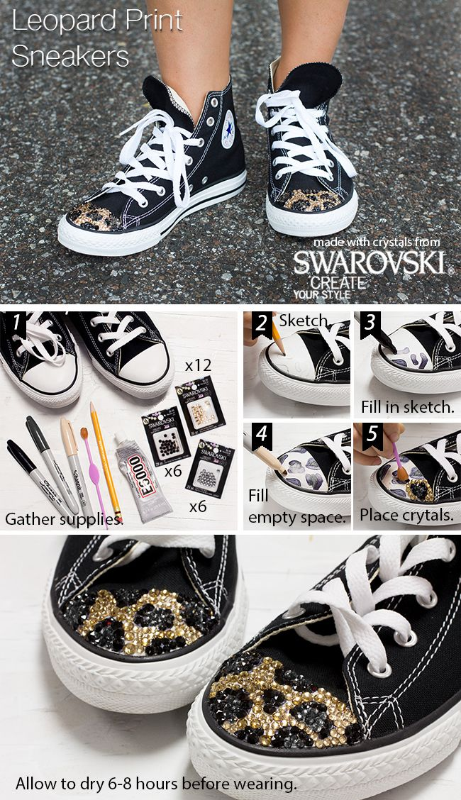 Add a little sparkle to their day with bedazzled kicks made with Swarovski crystals.