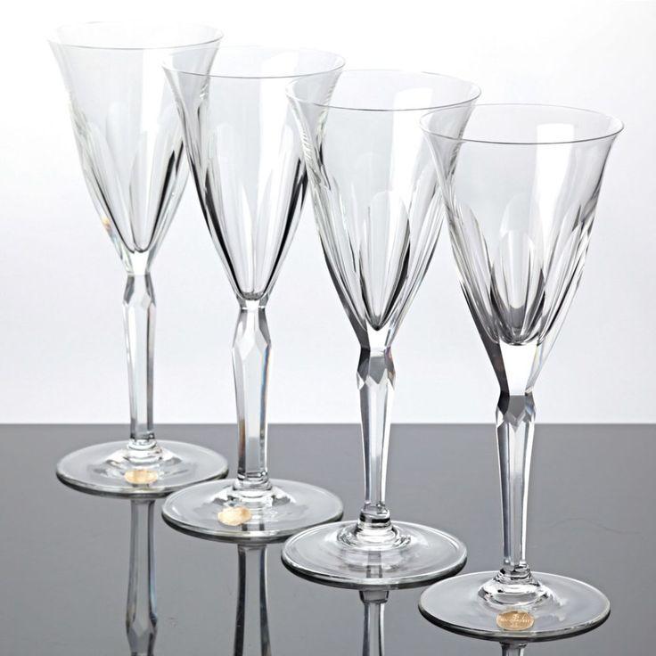 4 edle Sektgläser Kristall Gläser Trinkgläser Vintage alte Serie 18,7 cm ST TS
