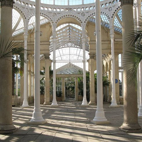 Syon Park.  Closest station: Syon Lane, Zone 4 Fare from Zone 1: £3.90 Syon Park dates back to the 16th century, and once entertained Queen Victoria. The beautiful Great Conservatory on the grounds is a must-see with its delicate architecture and vibrant gardens.