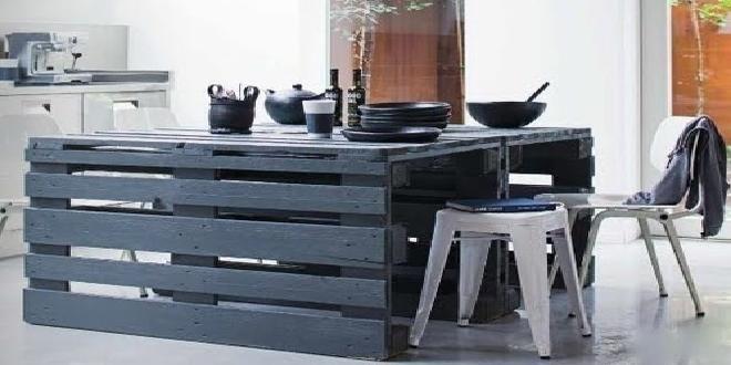 Te ense amos a hacer una mesa de cocina con palets paso a for Muebles de cocina con palets