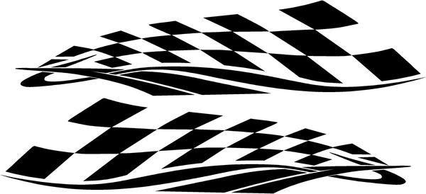 Checkered Flag Vinyl Die Cut Racing Decals