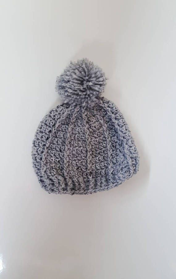 Baby boy, toddler, crochet grey beanie with pom pom. https://www.etsy.com/ie/listing/540647783/grey-pompom-crochet-toddler-hat-gifts