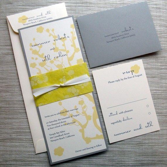 CHERRY BLOSSOM WEDDING INVITATIONS (DIY DIGITAL FILE INVITE)