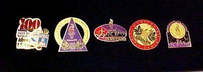 1896-1996 Olympic Pin Atlanta Centennial Games Collection Collector Set of 5