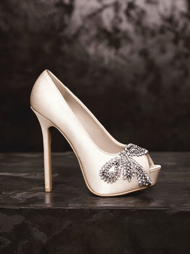 Vera Wang bridal shoes!! when i google search these, it says you can order them through davids bridal & they're around $120