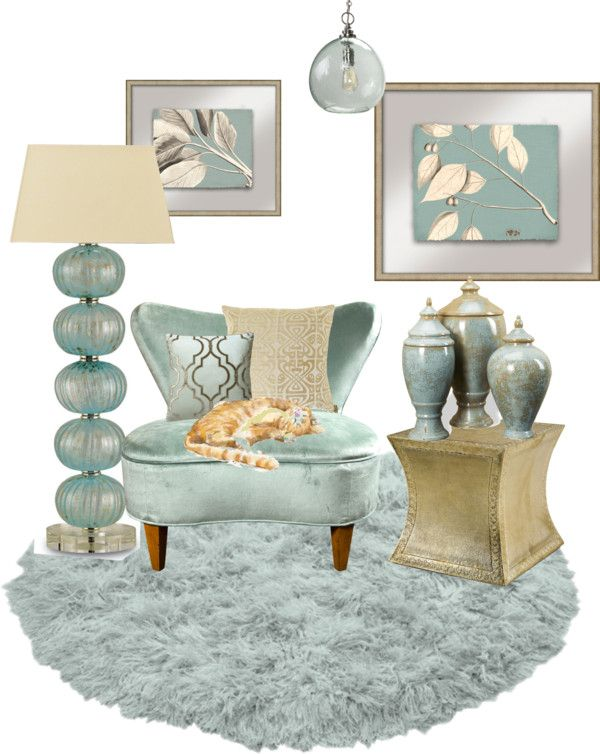 """Mint Living Room (group contest)"" by vanaynayreed on Polyvore"