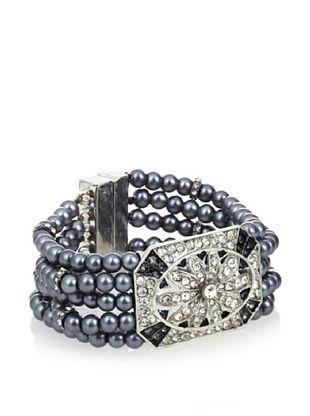 Leslie Danzis Deco Glass Pearl Five-Row Bracelet
