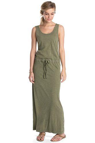 Esprit / Jersey maxi-jurk met washed effecten