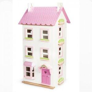 ΞΥΛΙΝΟ ΚΟΥΚΛΟΣΠΙΤΟ ΒΙΚΤΩΡΙΑΣ Το κουκλόσπιτο της Βικτωρίας, βγαλμένο και αυτό μέσα από τα όνειρα των κοριτσιών, είναι ένα πανέμορφο πολύχρωμο σπίτι από τη συλλογή με τα ξύλινα κουκλόσπιτα της εταιρείας Le Toy Van.