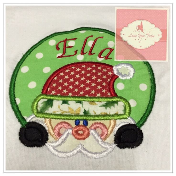 Embroidered Personalized Santa T-Shirt