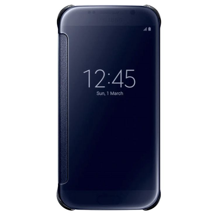 Samsung Galaxy S6 Clear View Flip Veske EF-ZG920BB - Svart Safir