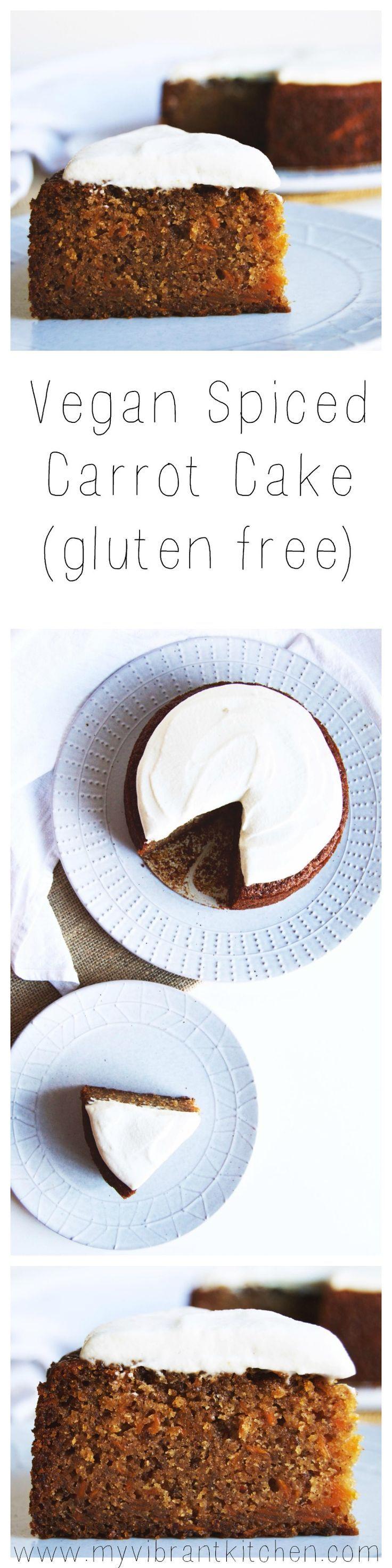 My Vibrant Kitchen   Vegan Spiced Carrot Cake (gluten free)   http://myvibrantkitchen.com